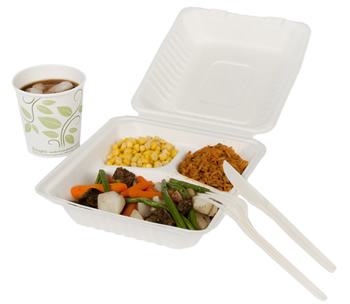 Meal in Compostable Food Service Packaging